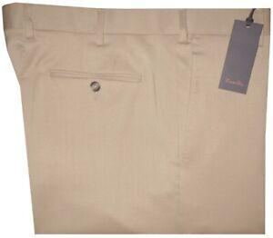 395-NEW-ZANELLA-SOLID-TAN-SUPER-120-039-S-WOOL-STRETCH-DRESS-PANTS-40