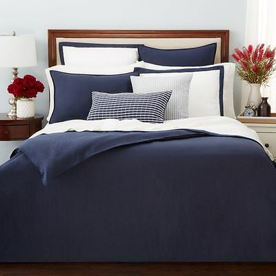 Oake Bedding 100/% Linen KING Pillow Sham Navy Blue MSRP $115 D5127