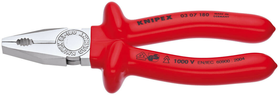 Knipex 180Mm Fully Insulated S Range Combination Pliers Draper 21452