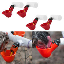 4pcs/Pack Poultry Water Drinking Cups- Chicken Hen Plastic Automatic Drinker