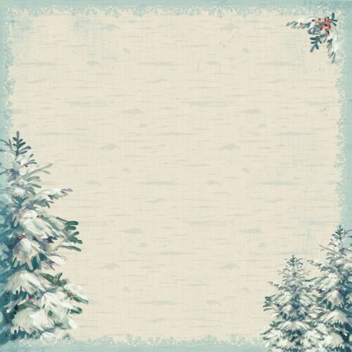 "Motive Winter 30,5x30,5 cm Authentique Solitude Dbl-Sided Cardstock 12/"" versch"