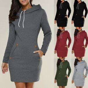 Image is loading US-Womens-Hooded-Sweatshirt-Long-Sleeve-Sweater-Ladies- 36bd3823312