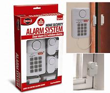 Home Security Alarm System Wireless Door 2 Window Sensors Programmable Key Pad