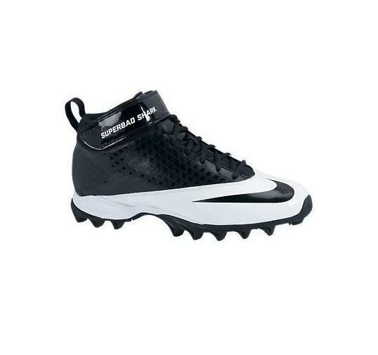 MEN'S GUYS NIKE SUPER BAD SHARK FOOTBALL CLEATS SHOES BLACK/WHITE NEW Price reduction best-selling model of the brand