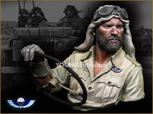 Young Miniatures  British SAS North Africa YM1842 WW2 Bust Unpainted Resin kit