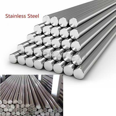 Stainless Steel 304 Round Metal Bar Solid Rod Dia 3-14mm Length 125mm-500mm Nice