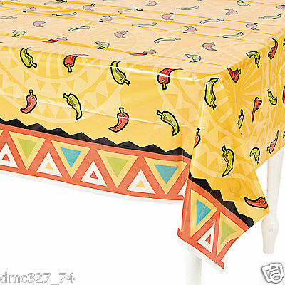 FIESTA Cinco De Mayo Party Decoration Table Cover Southwest Chilies CHILI PEPPER