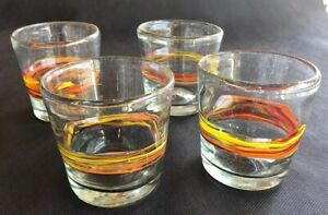 Crate-And-Barrel-Double-Old-Fashioned-Recycled-Glass-11-Oz-Set-Of-4