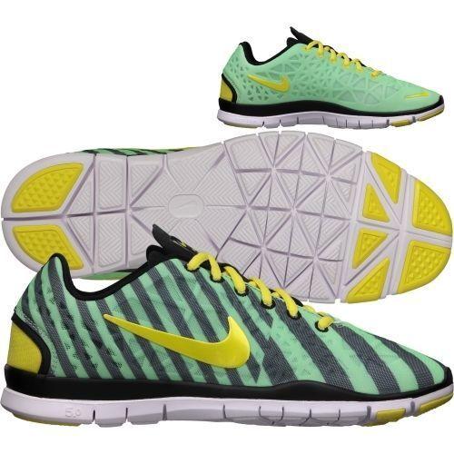 New Nike Women's Free TR Fit 3 PRT Running Shoes Green/Yellow/Black 555159-302**