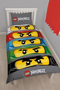 Lego-Ninjago-Yeux-Enfants-Parure-de-Lit-Ninja-Go-Enfants-Set-135x200-Neuf