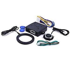 Engine Push Start Button RFID Lock Ignition Starter Keyless Entry
