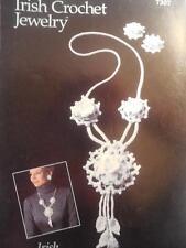 Annie's Irish Crochet Jewelry IRISH MEDALLION Necklace and Earrings #7307