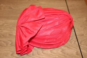 116473b56 Details about FANCY Whittall and Shon Derby Red Pillbox Hat Large Front Bow  No Brim (D2)