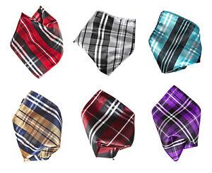 Vesuvio Napoli Striped Solid Hankerchief Pocket Square Hanky Mens Handkerchiefs