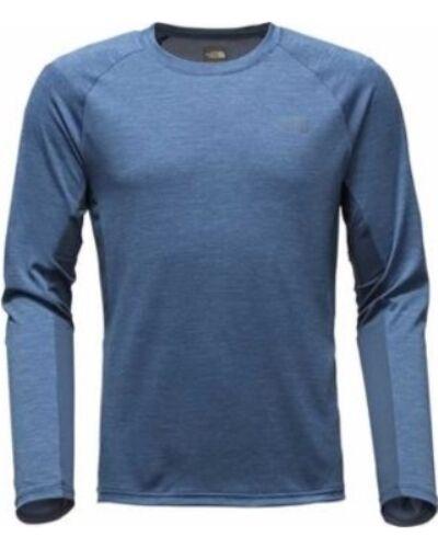 THE North Face Uomo ambizione Traspirante Corsa L/S T-shirt girocollo Shady Blu M MED