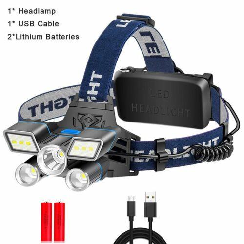 USB LED Stirnlampe Kopflampe Wiederaufladbar Outdoor Scheinwerfer Wasserdicht