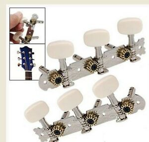 New 6 Pcs Chrome Guitar String Tuning Pegs Tuners Machine Heads Networking Aaaj