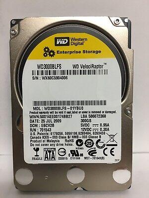"""Western Digital VelociRaptor 300GB 10K 16MB 2.5"""" SATA Hard Drive WD3000BLFS FAST"""