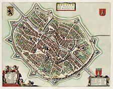 MAP ANTIQUE 1649 VAN LOON COMM TOURNAI CITY PLAN REPLICA POSTER PRINT PAM0081