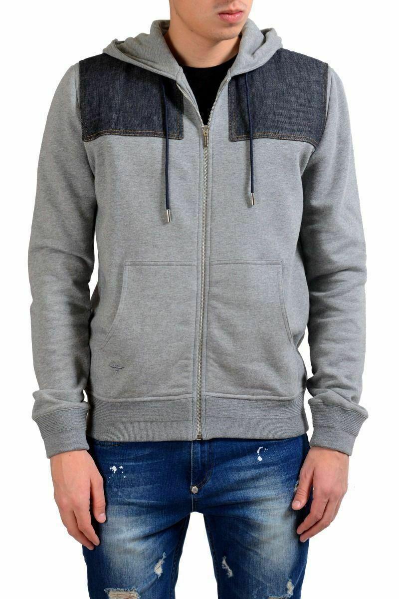 Christian Dior Men's Gray Fleece Full Zip Hoodie Size S M L
