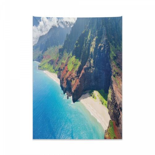 Hawaii Wandteppich und Tagesdecke Na Pali Coast-Insel Druck
