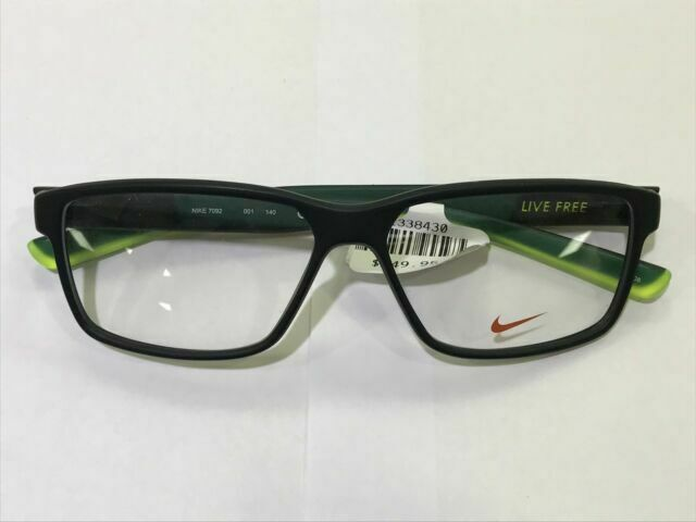 amenaza graduado expedición  Authentic Eyeglasses Nike 7092 001 Matte Black/volt for sale online | eBay