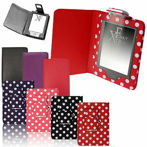 para-Amazon-Kindle-4-4th-amp-TOUCH-7-8-Funda-de-piel-cartera-con-Luz