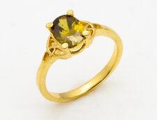 Wall Street Single American Diamond Gold & Rhodium Plated Finger Ring