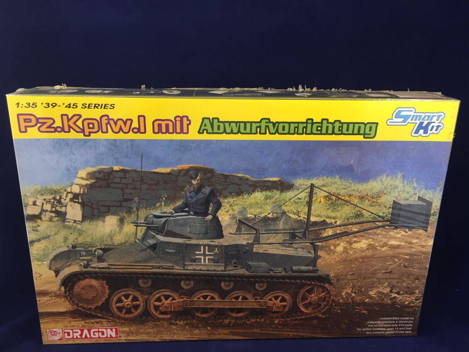 Dragon Pz.Kpfw.I mit Abwurfvorrichtung 1 35 Scale Plastic Model Kit 6480 NIB