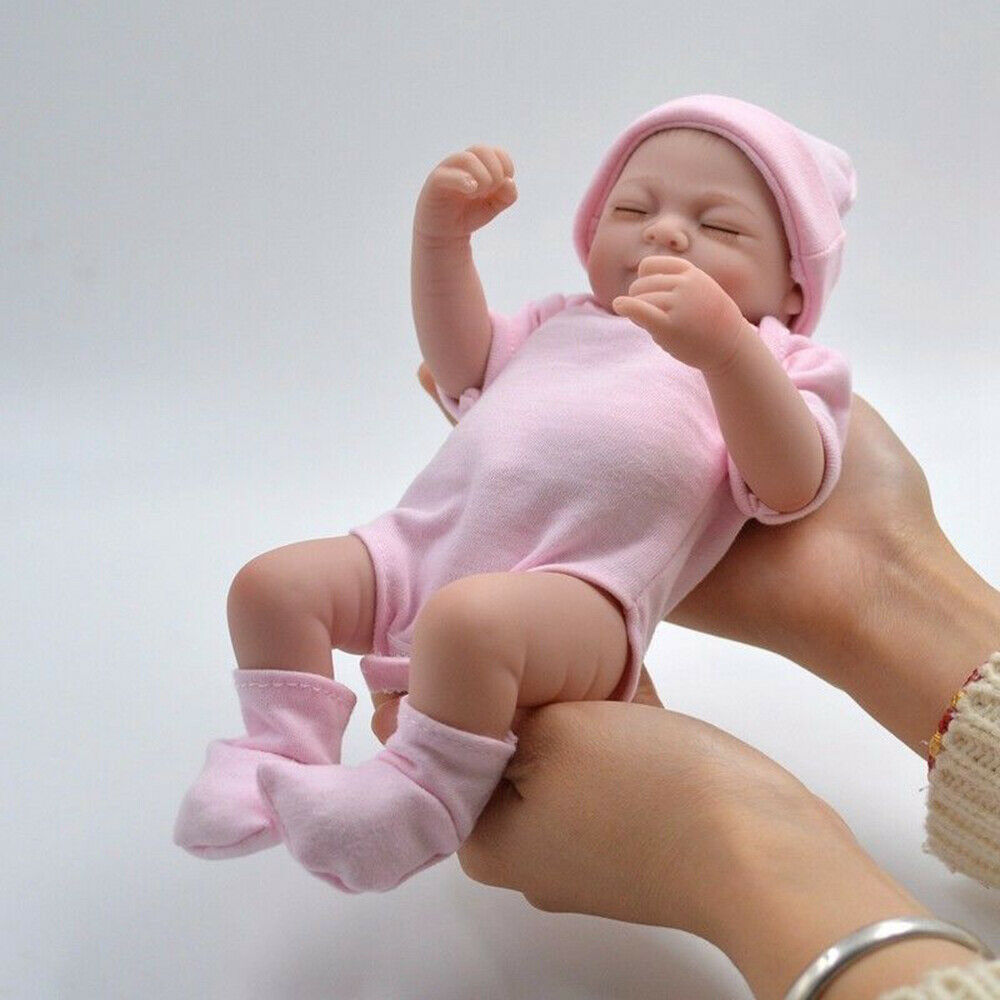 "Full Body Handmade Reborn Baby Doll 10/"" Preemie Vinyl Silicone Lifelike Doll Toy"