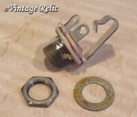 """aged Switchcraft 1/4"""" JACK nickel USA fits Fender Strat Tele Gibson Les Paul SG"""