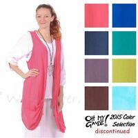 Oh My Gauze Cotton Omaha Open Layering Vest Top Os (m/l/xl/1x) 2015 Disc Colors