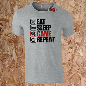 Eat Sleep Game Repeat Boys Gaming Inspired T-Shirt