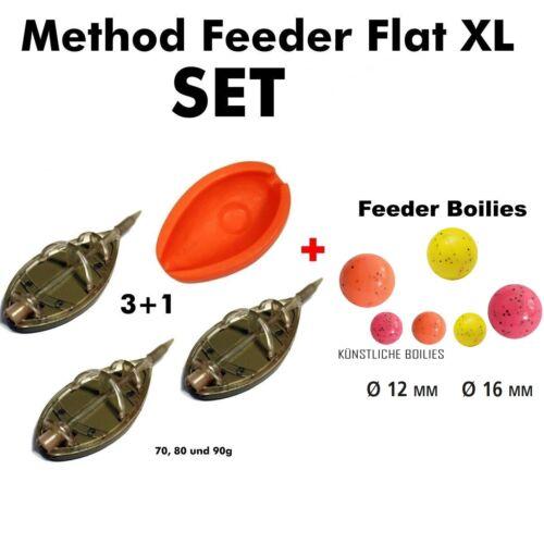 Künstliche Boilies in 12 oder 16mm XL Method Feeder Set bis 90g
