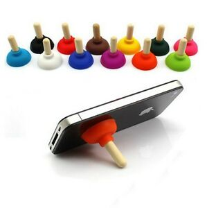 10x pumping toilet plunger suction cup stand mount holder for apple iphone 7 6s ebay. Black Bedroom Furniture Sets. Home Design Ideas