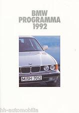 Prospekt BMW Programma 1/92 NL brochure 3 5 7 Serie 750i iL 850i M5 Auto Pkw car