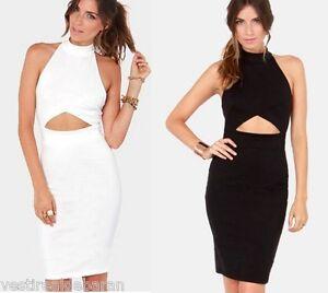 Abito-Vestito-Donna-Midi-Dress-Bodycon-Bandage-KEY-LOVER-29591-B738-Tg-Unica