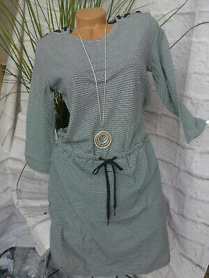 Tom Tailor Kleid Damen Sweatkleid blau weiß gestreift Gr ...