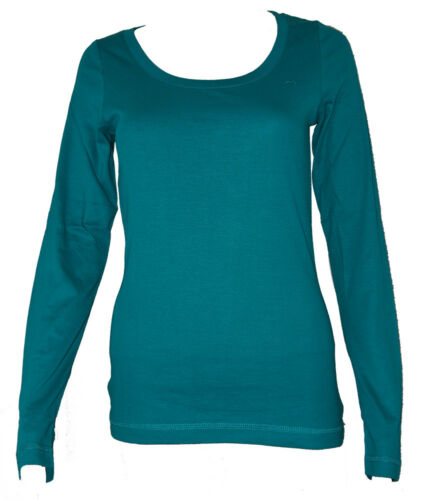 Ladies 100/% Cotton Scoop Neck Long Sleeved Strech Top Clearance!