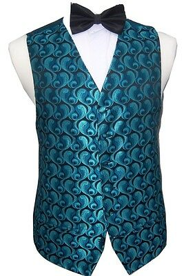 DRESS// SUIT FORMAL CW19 MENS//BOYS SILVER SWIRL WAISTCOAT WEDDING