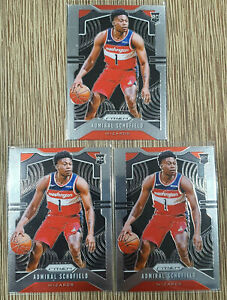 2019-20-Prizm-Admiral-Schofield-Prizm-Rookie-RC-280-Wizards-x3-Lot