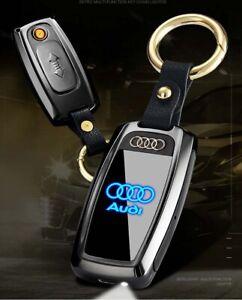 USB-Brand-Car-logo-Electric-Multi-Color-Lighter-Keychain-Cigarette-fire-starter