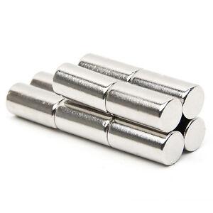 50 Stk N52 Super Starken Magneten Rund Scheibe Zylinder NdFeB Magnete 6 x 10 mm