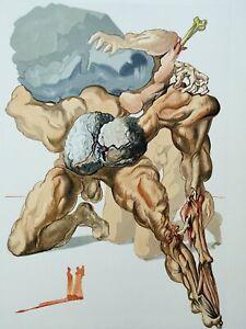 Salvador Dali: Hölle 7 - Holz Graviert Original,1960-1963,Die Göttliche Komödie