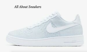 Nike-Air-Force-1-Flyknit-2-0-034-White-Pure-034-Men-039-s-Trainers-Limited-Stock-All-Sizes