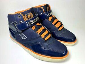 Coogi-Australia-Mens-Size-10-High-Top-Fashion-Sneakers-Shoes-Blue-CM1259