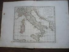 GRANDE CARTE ITALIE VAUGONDY 1806