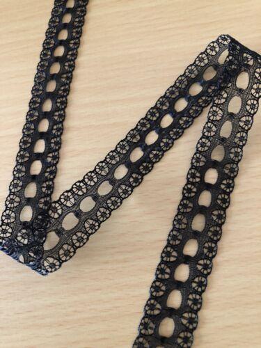 Noir 15 mm à tricoter en dentelle embellir Craft Achetez 2 Obtenez 1 Gratuit
