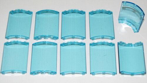 LEGO LOT OF 10 NEW QUARTER CYLINDER 4 X 4 X 6 TRANSPARENT LIGHT BLUE PIECES
