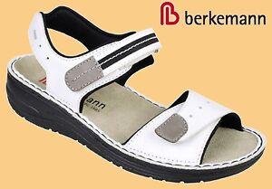 Details zu Sandalen Berkemann Sandaletten Leder WECHSELFUßBETT Leni weiß 3 8,5